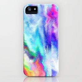 Vibrating Glitch Rainbow iPhone Case