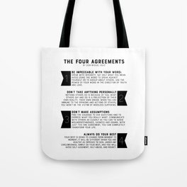 The Four Agreements by don Miguel Ruiz Tote Bag