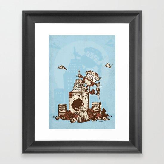 Laundry Monkie Framed Art Print