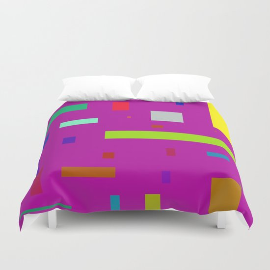 Squares and Rectangles 2 Duvet Cover