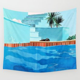 Swimming Pools Wall Tapestry