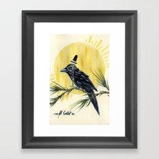 Dapper Raven Framed Art Print