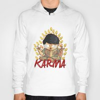 karma Hoodies featuring Karma by Seez