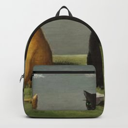 Three Cats with Clouds That Follow Them Everywhere by Gertrude Abercrombie Backpack