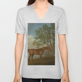 George Stubbs - Pumpkin with a Stable-lad Unisex V-Neck
