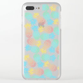 Colorful pineapple pattern Clear iPhone Case