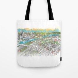 Pittsburgh Aerial Tote Bag