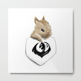 Pocket Anything - Bunny Metal Print