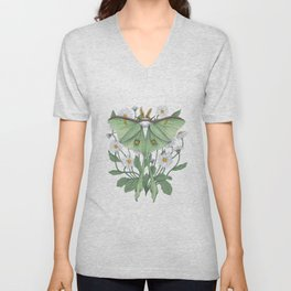 Metamorphosis - Luna Moth Unisex V-Neck