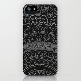 blackwhite mandala iPhone Case
