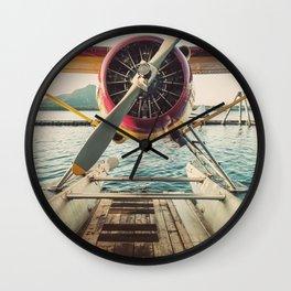 Seaplane Dock Wall Clock