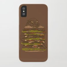 Godzilla vs Hamburger Slim Case iPhone X