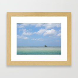 Lone Tree in Paradise Island Framed Art Print