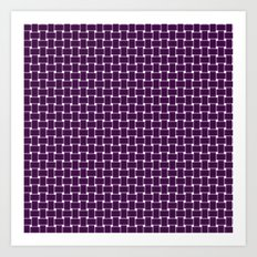 purple,color pattern of many small four corners Art Print