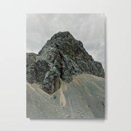 Dark rocky mountain Metal Print