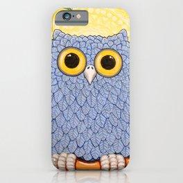 Little Blue Owl and Mandala Moon iPhone Case