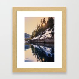 Reflections of a Dream Lake McCloud California Framed Art Print