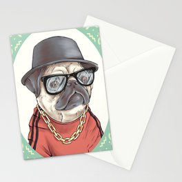 90's Pug rapper Stationery Cards