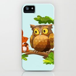 The Owl and The Squirrel iPhone Case