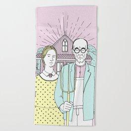 American Gothic Pop Beach Towel