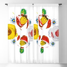 Canal roses of noproblem Blackout Curtain