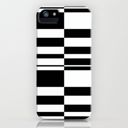Abstract striped pattern. black and white . iPhone Case