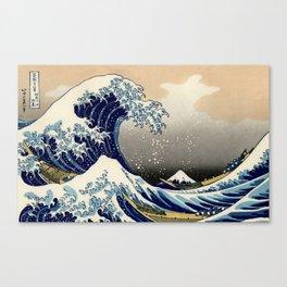The Great Wave off Kanagawa Hokusai Canvas Print