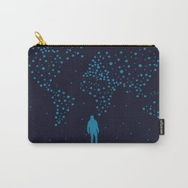 Stars world map - Man Carry-All Pouch