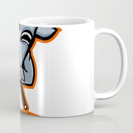 Hammerhead Ice Hockey Player Mascot Coffee Mug