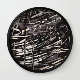 Chaotic Lines Wall Clock