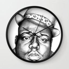 Biggie in Black & White Wall Clock