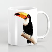 toucan Mugs featuring Toucan by Bridget Davidson