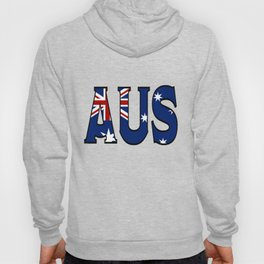 Abbreviated Australia with Flag Hoody