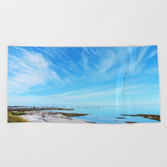 Big Blue Calm Beach Towel