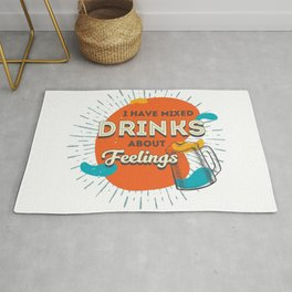 Mixed drinks for mixed feelings Rug