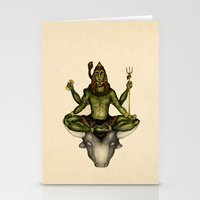shiva Stationery Cards featuring Shiva by Slavena Peneva