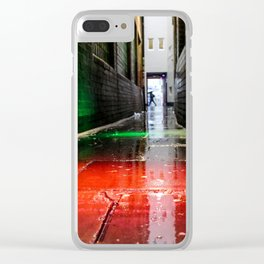 London street red green Clear iPhone Case