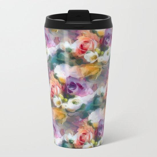 Fresh spring floral pattern Metal Travel Mug