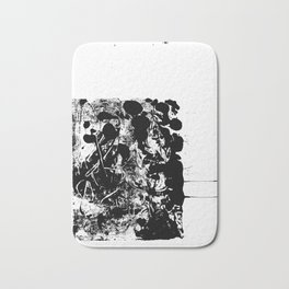 Black and White Abstract Art Bath Mat