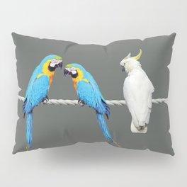 Macaw - Kakadu sitting on rope Pillow Sham