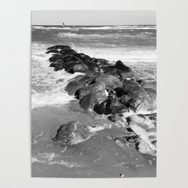 Breakwater on the Baltic Sea Poster