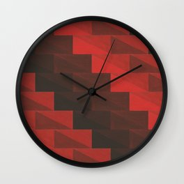 Red stairs Wall Clock