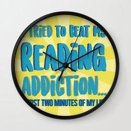 Reading Addiction Wall Clock