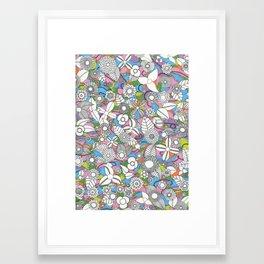 Flora in Pink Framed Art Print