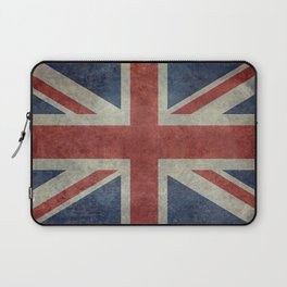 England's Union Jack, Dark Vintage 3:5 scale Laptop Sleeve