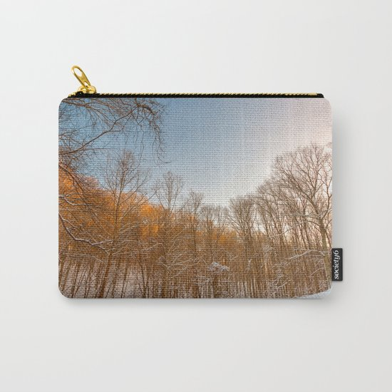 Golden Winter Forest Carry-All Pouch