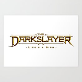 The Darkslayer - Logo Art Print