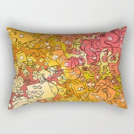 Technology Psychedelic Warm Rectangular Pillow