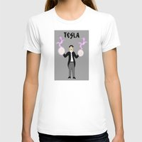 tesla T-shirts featuring Tesla by Designs By Misty Blue (Misty Lemons)