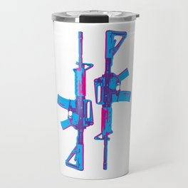 Neon M4 Carbine (Rifle) Travel Mug